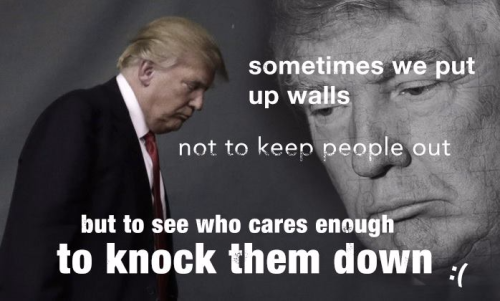 Cares Enough to Knock Them Down